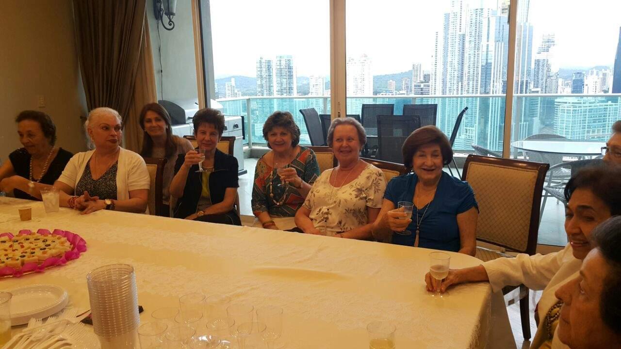 Daniella's birthday celebration with her class of grandmothers