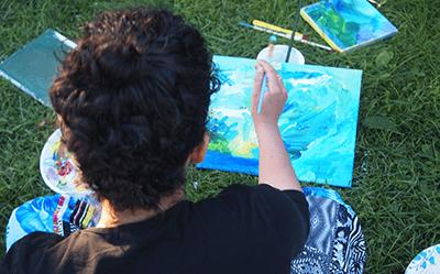 Art at Bais Chana Summer women's retreat